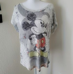 Disney Mickey Mouse Short Sleeve Sweater Sz M